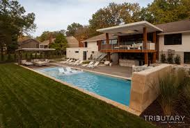 Residential Landscape Design by Geometric Mid Century Modern Tributary Pools U0026 Spas