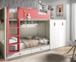 lit superposé chambre lit superposé enfant avec armoire et bureau amovible meubles ros