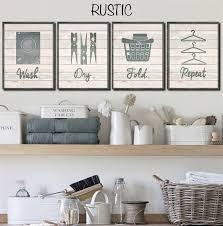 Laundry Room Wall Decor Set Of 4 Lovify Your Laundry Laundry Rooms Handmade Items And