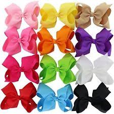boutique bows baby 12 solid colors 6 inch hair bows big grosgrain