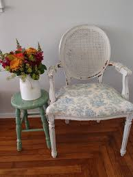 d d u0027s cottage and design cane backed blue french chair