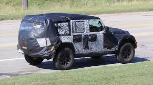 2018 jeep wrangler spy shots 2018 jeep wrangler taillights spied after wardrobe malfunction