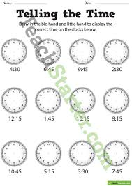 telling the time worksheets bw teaching resource u2013 teach starter