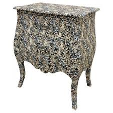 leopard print bombe bedside chest leopard print bedside table