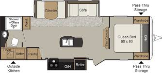 Front Kitchen Rv Floor Plans New Or Used Travel Trailer Campers For Sale Rvs Near Grand Rapids