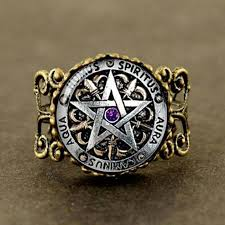 steunk engagement ring aliexpress buy steunk fashion wiccan protection black