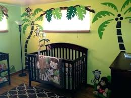 Monkey Decorations For Nursery Jungle Themed Nursery Ideas Green And Brown Tropical Monkey Jungle