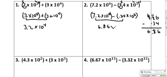 working with scientific notation scientific notation operations addition and subtraction