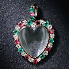 emerald heart pendant necklace images Diamond ruby and emerald heart locket pendant jpg