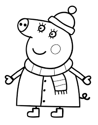 peppa pig printable coloring pages u2013 alcatix com