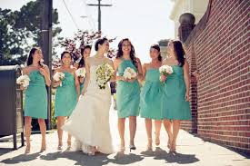 tiffany blue bridesmaid dresses with knee lengthcherry marry