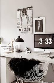 Black Home Office Furniture Black And White Decorating Ideas For Home Office Designs