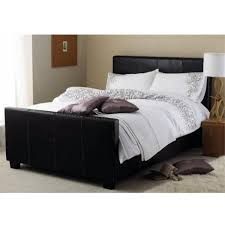 cheap faux leather ottoman cheap hyder living vienna ottoman black faux leather bed frame for