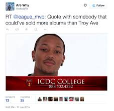 Icdc College Meme - rap fans go for blood after troy ave flops with 30 copies sold