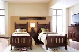 Twin Bedroom Set by Kids Room Retro Style Twin Bedroom Ideas With Brown Wooden Bed