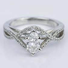 marquise diamond engagement rings cross split shank 0 71 carat marquise diamond engagement ring