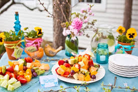 plates that stick to table easter ideas decorations fascinate backyard inspirations with blue