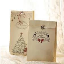 sale 8pcs kraft paper xmas party holiday cookies present gift