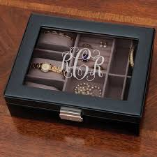 personalized jewelry box personalized monogram black jewelry box walmart