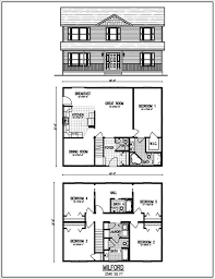 simple two story house design simple two story rectangular house design two kitchen house plan