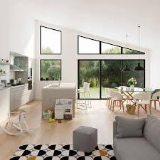 decoration salon cuisine idee cuisine ouverte sur salon enchanteur sejour avec amenagement