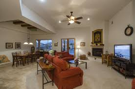 Dining Room With Ceiling Fan by Craftsman Living Room With Stone Fireplace U0026 Ceiling Fan In Las