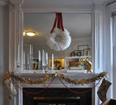 Glitter Home Decor Delightful Holiday Mantel Decorations Ideas With Clear Glass