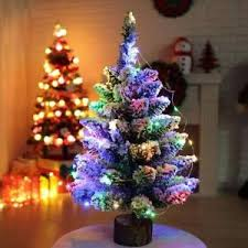 Christmas Tree With Optical Fiber Lights - led christmas tree xmas tree multi colour lights optic fiber ebay