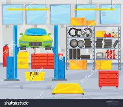 Interior Repair Interior Repair Shop Car Being Repaired Stock Vector 504905449