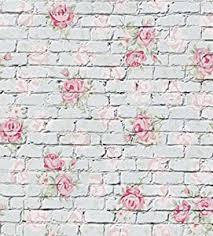 Pink Brick Wall Amazon Com Generic Pink Painted Flower On Gray Brick Wall