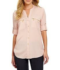 womens dressy blouses calvin klein pink s casual dressy tops blouses dillards