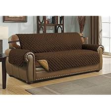 Cover Leather Sofa Amazon Com Sure Fit Vintage Leather Sofa Slipcover Brown