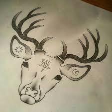 deer head tattoo by revoltingarts on deviantart