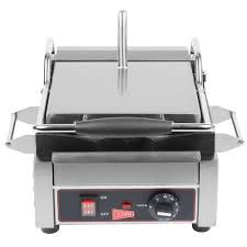 Outdoor Flat Grill Cooktop Cecilware Sg1sf Single Panini Sandwich Grill With Flat Grill