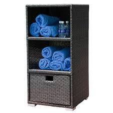 source outdoor zen wicker towel storage storage and planters