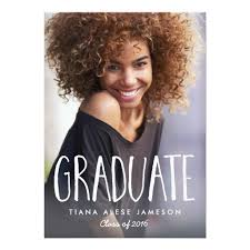 graduation announcements handwritten trendy photo graduation announcement ladyprints