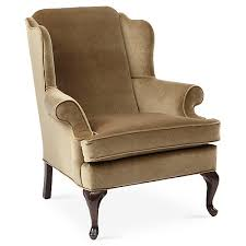 Beige Wingback Chair Accent Chairs Living Room Furniture One Kings Lane