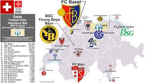 07 World Map by Swiss Super League Attendance Map 2006 U002707 Season