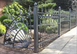exterior exquisite wrought iron fence design look so great and