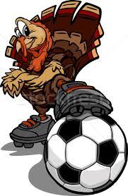 soccer thanksgiving turkey vector illustration