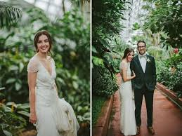 heartfelt chicago greenhouse wedding jessie chris green