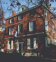 row houses of society hill in philadelphia pennsylvania old