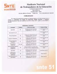 calendario de pago de medio aguinaldo 2016 comunicado calendario de pago diciembre 2016 enero 2017