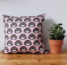 pink hedgehog fabric hedgehog fabric upholstery fabric curtain
