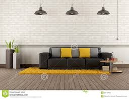 Modern Brown Sofa Modern Lounge With Brown Sofa Stock Illustration Illustration Of