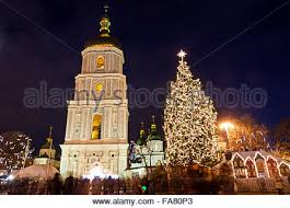 New Year Church Decoration by Main New Year Tree In Gum With Vintage Christmas Greeting Cards