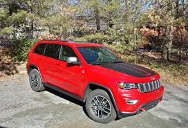 jeep grand cherokee red interior review 2017 jeep grand cherokee trailhawk 4x4 two rows eight