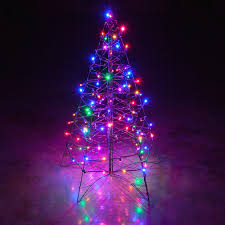 tree led lights with color changing white pine small
