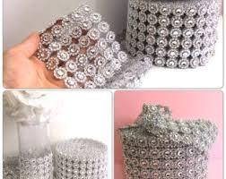 diamond mesh ribbon rhinestone mesh etsy