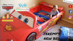 jeremy u0027s new disney pixar cars 2 lightning mcqueen kids bed cars